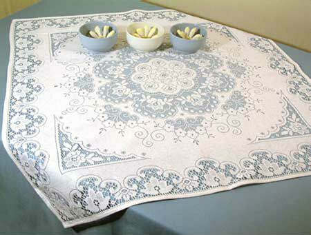 Nottingham Lace Runners Are An Attractive Addition And An Alternative To  The Use Of A Conventional Tablecloth As A Dining Table Setting.