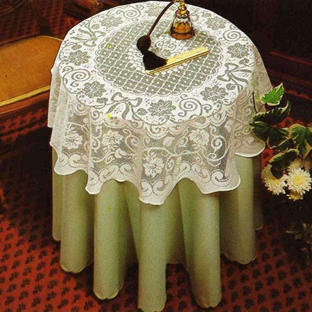 Importantly When Using An Undercloth, It Enables Nottingham Lace Tablecloths  To Be Used On Larger/alternative Shaped Tables Without The Need For Any ...